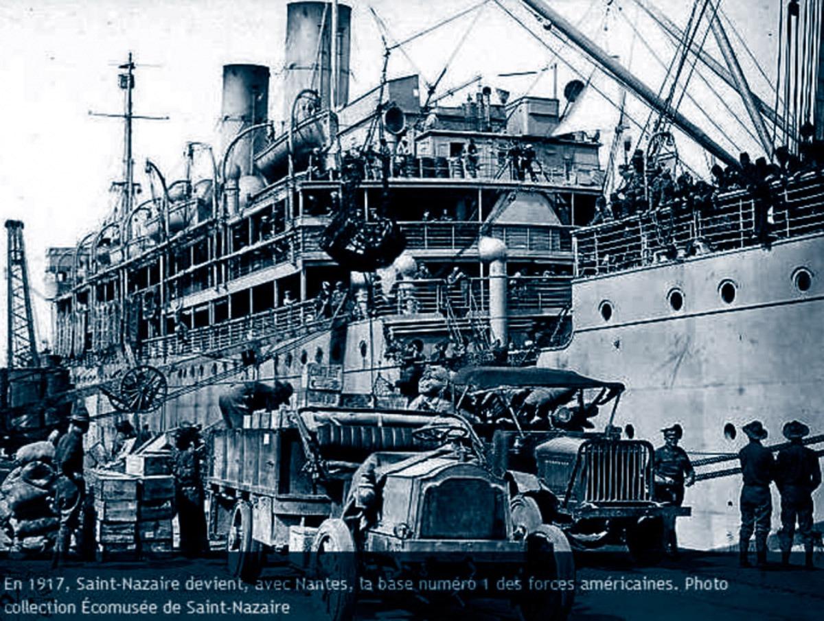 Les soldats américains débarquant à Saint-Nazaire.